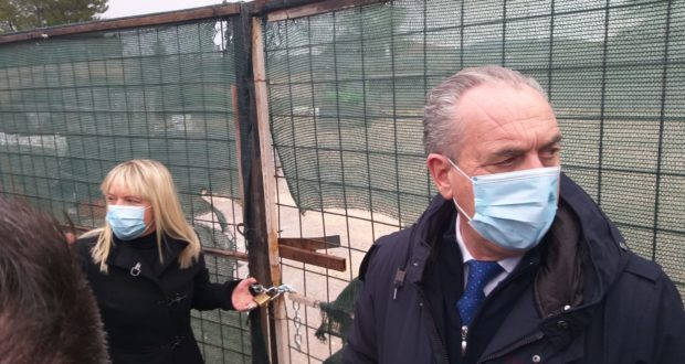 Il sindaco e Legnini riaprono il cantiere Itis