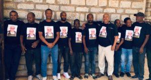 L'omaggio degli ex giocatori allenati da padre Gino Binanti e vincitori della Coppa d'Etiopia nel '97
