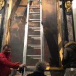 L'opera rimossa dalla chiesa in cui si trovava