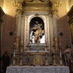 """L'altare della chiesa di San Rocco pronto ad accogliere la """"Vergine"""" del Pomarancio"""
