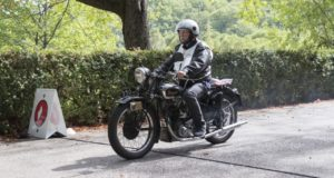 Una moto d'epoca a Serrapetrona