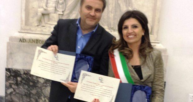 Romina Cherubini e Fausto Pezzanesi a Roma per il Premio Chiara Lubich