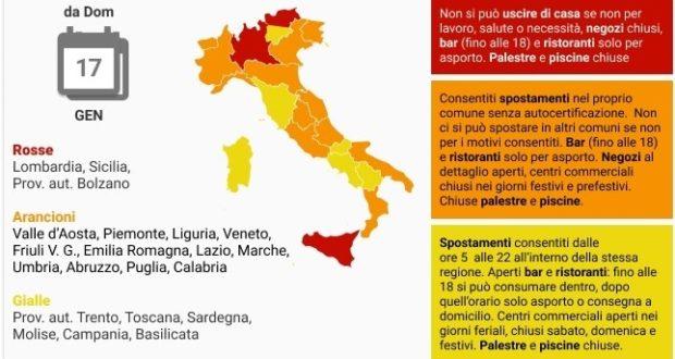"""La nuova """"mappa"""" delle regioni"""