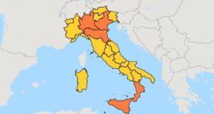 Le regioni tornano a colorarsi per le restrizioni anti Covid