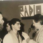 Luciano Gregoretti intervistato per Radio7 da un giovane Claudio Scarponi
