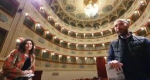 Lucia Tancredi al Feronia con il direttore artistico Francesco Rapaccioni