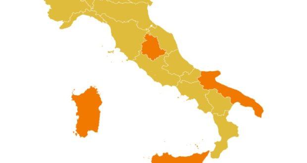 L'Italia da lunedì 1 febbraio