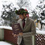 """Giorgio dice scherzando: """"Ho fatto nevicare!"""""""