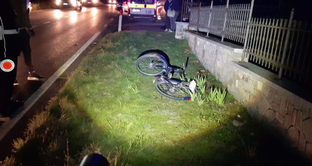 La bici rimasta a terra