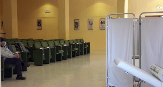 Vaccinazioni nella sala Italia