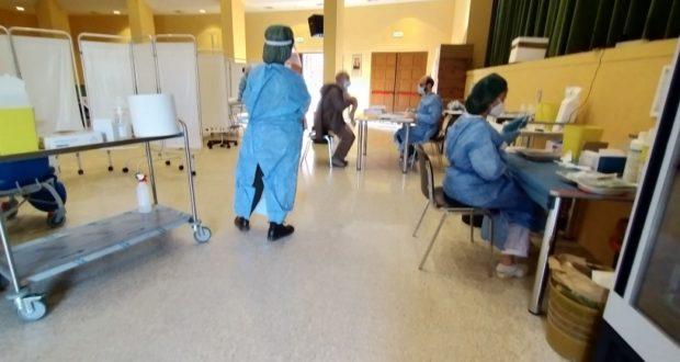 Sala Italia allestita per le vaccinazioni