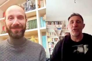 Il direttore artistico Rapaccioni con lo scrittore Dimaggio