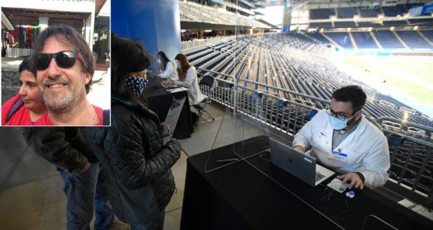 Lo stadio di Detroit e, nel riquadro, Guglielmo Audiberti