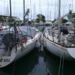 L'imbarcazione ormeggiata alle Fiji