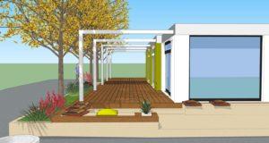Il nuovo progetto per lo spazio esterno del bar ristorante Scuriatti