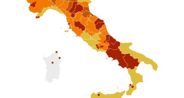 """La nuova """"mappa"""" dell'Italia"""