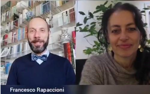 Il direttore artistico Rapaccioni e la scrittrice Ceroni