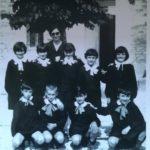 La maestra Maria nella vecchia scuola di Cesolo