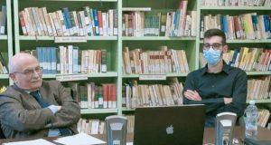 Il professor Alberto Pellegrino con Saverio Serini