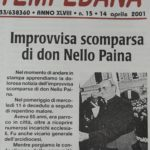 La notizia del decesso di don Nello Paina