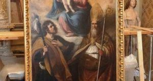 La tela tornata nella chiesa di San Rocco