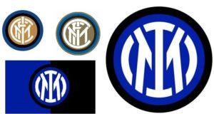 Da sinistra: il logo disegnato da Muggiani; il logo rivisto nel 2014 e, più grande, il nuovo stemma