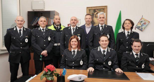 Il Corpo della Polizia locale di San Severino (foto Serini)