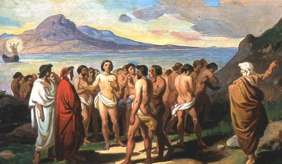 Uno dei bozzetti del Bigioli dedicato alla Divina Commedia