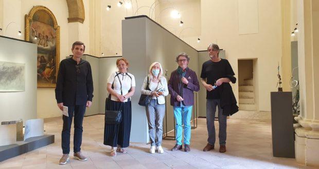 Gli ospiti montenegrini in visita alla mostra