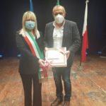 Il sindaco Rosa Piermattei con mister Fabrizio Castori