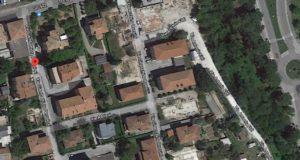 La zona di via Pergolesi a ridosso di viale Settempeda