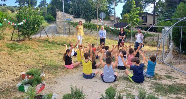 Lo spazio verde della scuola di Cesolo