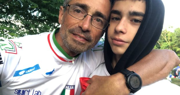 Alberto Cambio con il figlio Giacomo