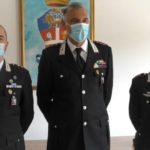 Da sinistra: il capitano De Carlini, il colonnello Candido e il capitano Maggi