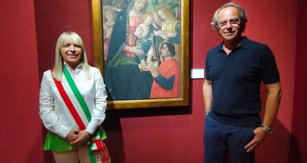 Della Valle in Pinacoteca con il sindaco Rosa Piermattei