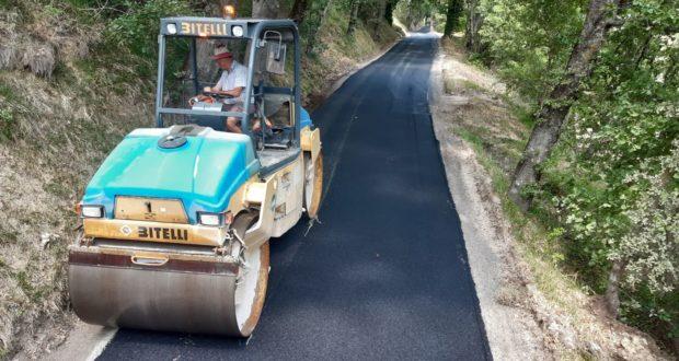Lavori di asfaltatura a Gaglianvecchio