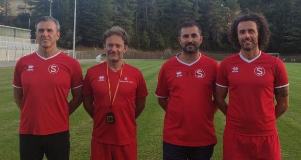 Lo staff tecnico: da sinistra Sorichetti, Ruggeri, Quagliuzzi e Fattori