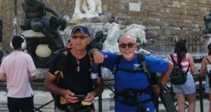 Dino Marinelli e Claudio Cipolletti all'arrivo a Firenze