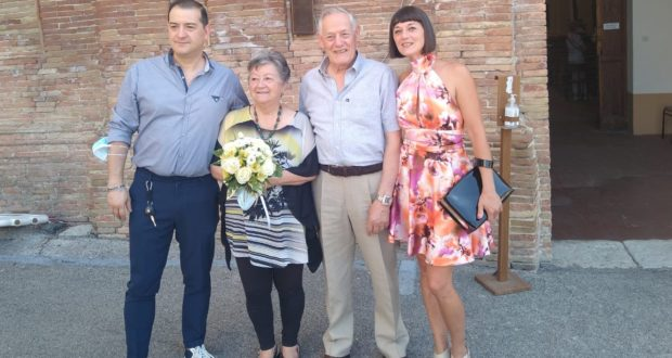 Tamara e Gianmario con i figli Valeria ed Enrico