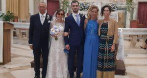 Gli sposi con la famiglia Losurdo