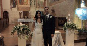 Gli sposi Elisa e Michele