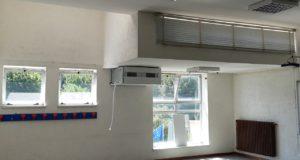 lavori per l'installazione delle nuove macchine alla scuola Media