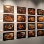 I bozzetti del Bigioli disposti in Pinacoteca