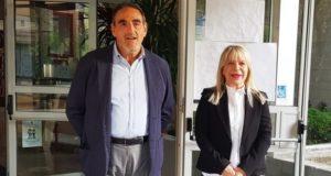 Il preside Luciani con il sindaco Piermattei