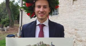 Il neo ingegnere Lorenzo Sabbatini